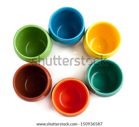 Color cups placed in circle