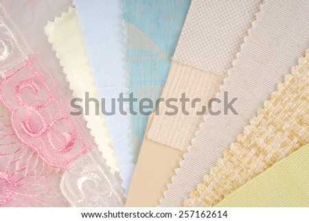 color design pastel  selection for interior - stock photo