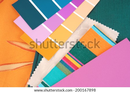 color design trendy selection for interior - stock photo