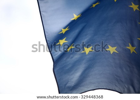Color detail of the European Union flag.