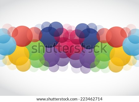 color dots illustration design over a white background - stock photo