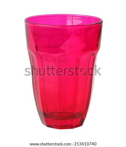 Color drink glass white background isolated