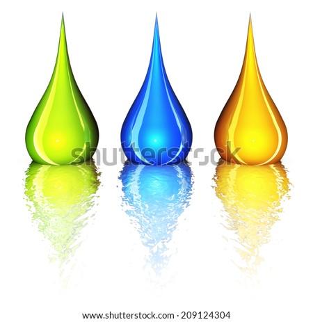 color drops - stock photo
