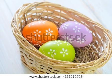 color eggs - stock photo