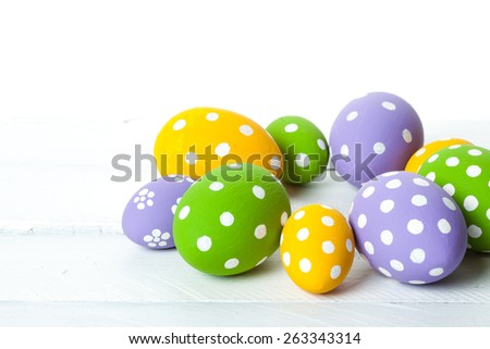 color eggs for holiday easter. studio shot - stock photo