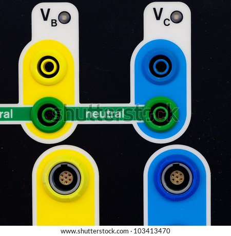 Color electric joint - stock photo