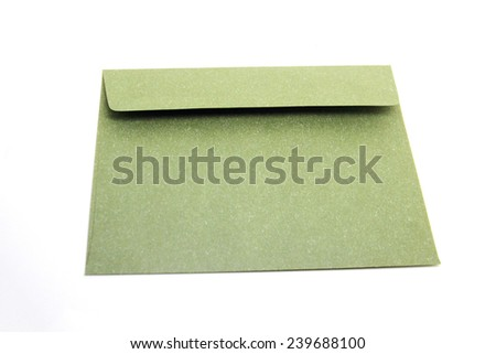 Color envelope isolate on white background  - stock photo