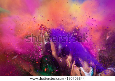 Color festival - stock photo