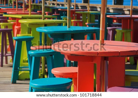 Color for pier of key west , florida , USA. - stock photo