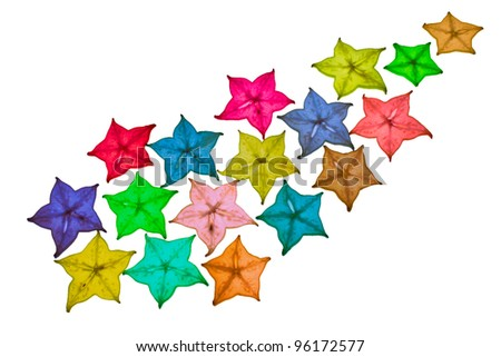 color full star fruit is used as the background