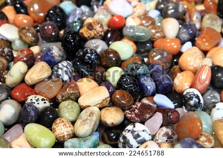 color gemstones background - stock photo