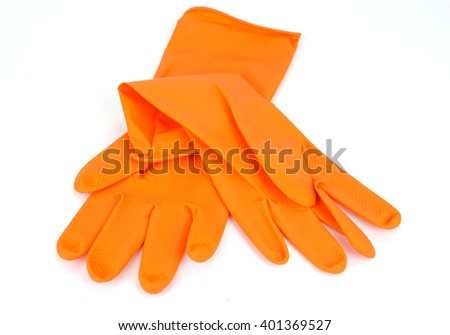Color glove isolated on white background