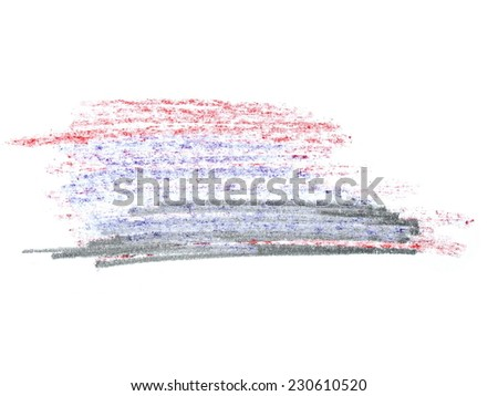 color grunge graphite pencil texture isolated on white background - stock photo