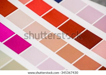 color guide - stock photo