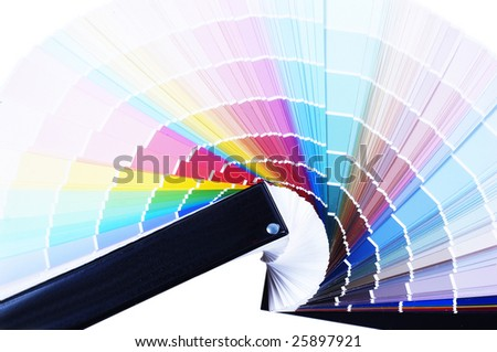 color guide closeup - stock photo