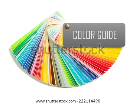 Color guide isolated on white background - stock photo