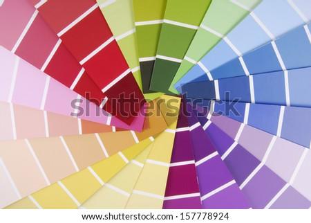 color guide sampler - stock photo