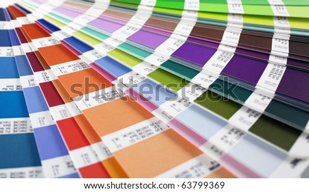 color guide swatch - for designers and printers (horizontal view) - stock photo