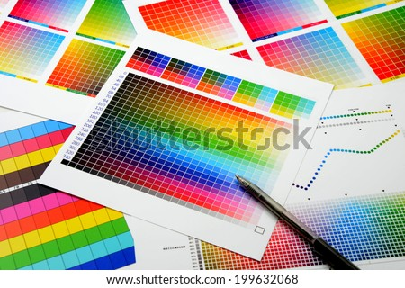 Color guide to match colors for printing