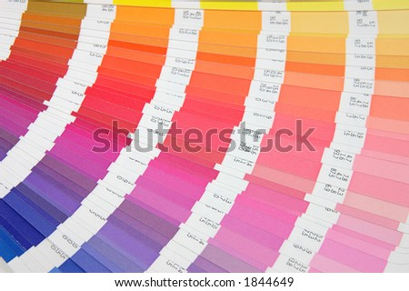 Color guide - yellow to blue - stock photo