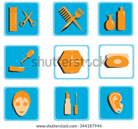 Color icons for beauty salon