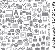 Color Icons for Web, Applications and Tablet Mobile Seamless pattern (jpg). Vector version also available - stock photo