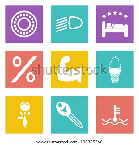 Color icons for Web Design and Mobile Applications set 34.  - stock photo
