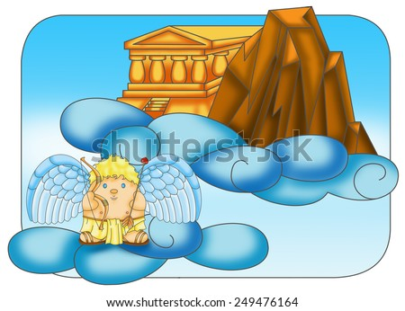 Stock images similar to id 168755549 illustration of a for Mount olympus coloring pages