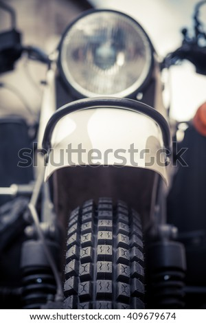 Color image of an off-road trial motorcycle tire.
