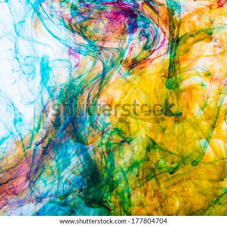 color ink in water - stock photo