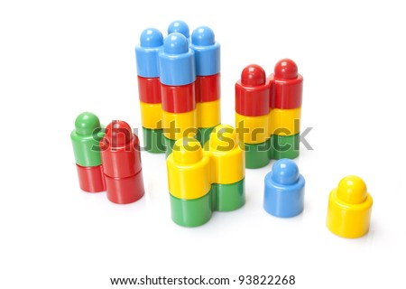 color kids constructor on white background