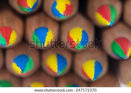Color lead pencils - stock photo