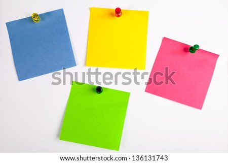 Color leaflets for notes