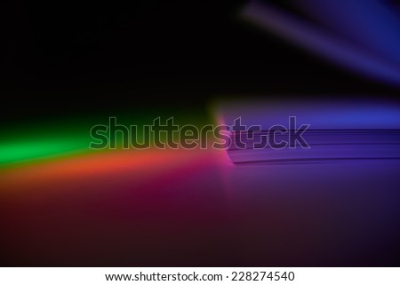 Color lights against white pages