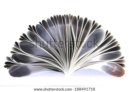 Color magazine isolated on the white background - stock photo