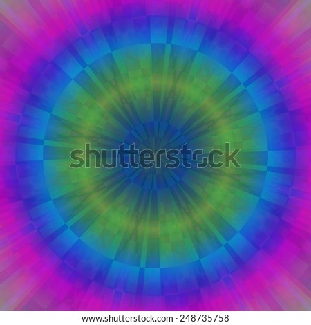 Color magic ring rays abstract