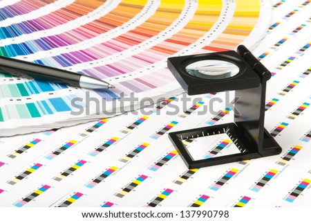 Color management in print production - stock photo