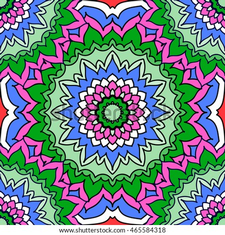 Color Mandala. Abstract circular ornament. Sample background. Hand-drawing in the Eastern style, Arabic, Indian, Turkish.