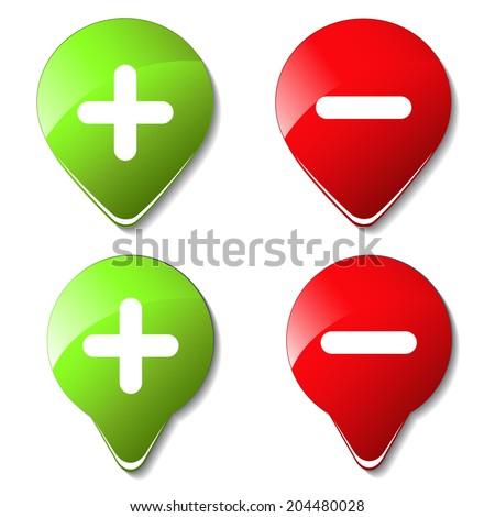 color map pointers, buttons - plus, minus - stock photo