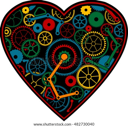 color mechanical heart