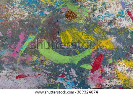 Color multicolored stained pavement.background.