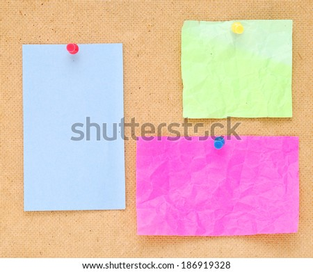 color notes on wooden background