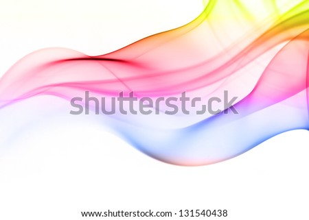 Color of smoke in the white background - stock photo