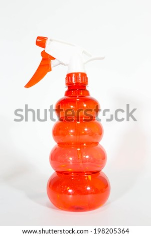 color of sprayer on isolated - stock photo
