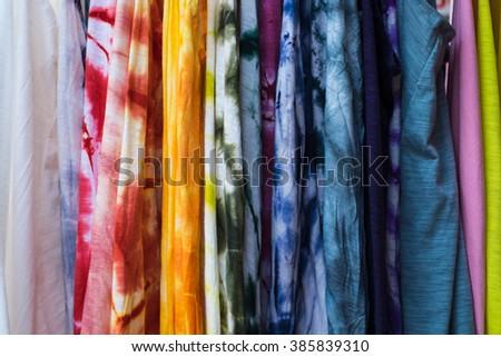 color of tie dye - stock photo