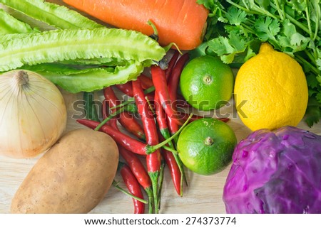 color of vegetable