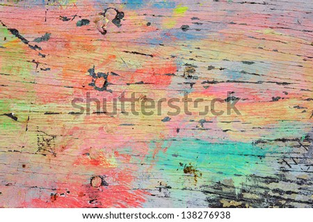color on wood - stock photo