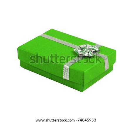 Color package with ribbon