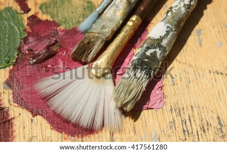 Color painting - stock photo