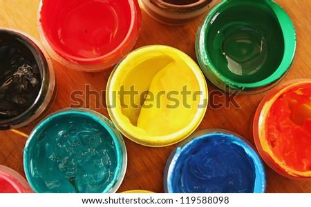 Color paints - stock photo
